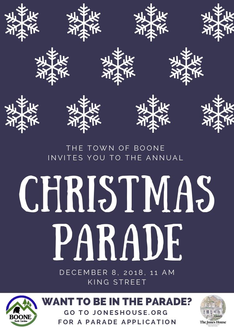 Boone Christmas Parade 2019 Boone Tree Lighting Dec 7, Christmas Parade December 8, 2018
