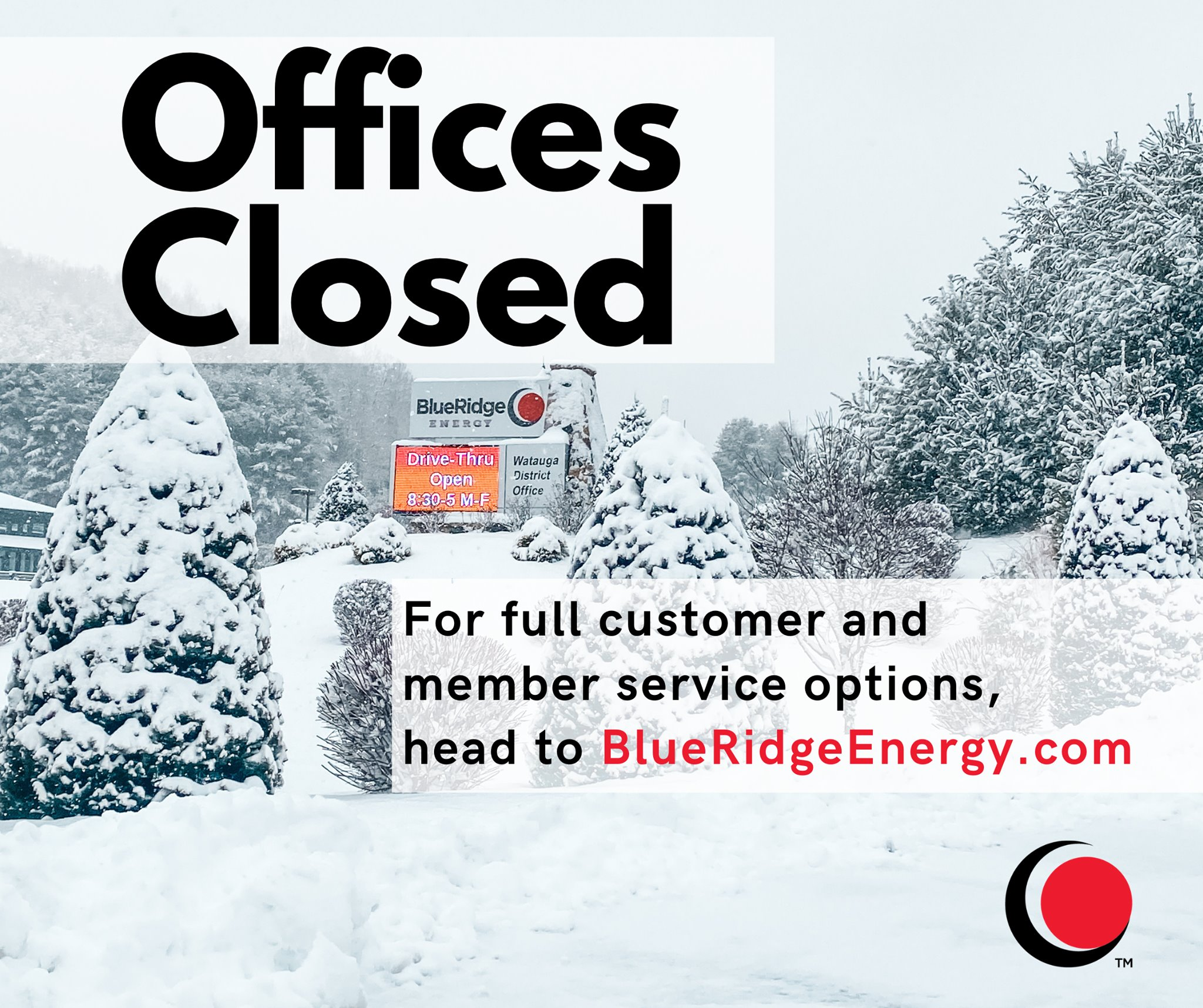 Blue Ridge Energy Offices Temporarily Closed Due to Ongoing Pandemic